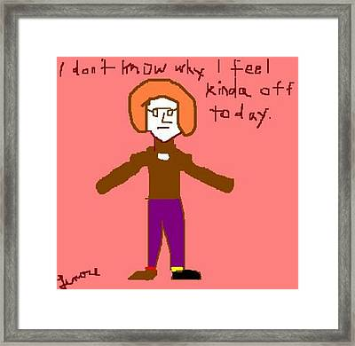 Off Day Framed Print by Lenore Senior