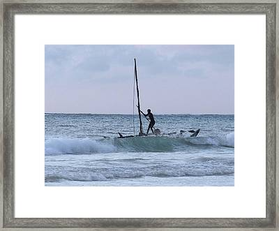 Off Fishing Framed Print