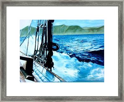 Off Maui Framed Print