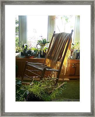 Framed Print featuring the photograph Off My Rocker - Photograph by Jackie Mueller-Jones