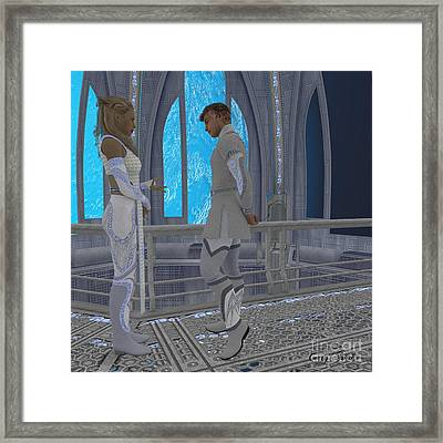 Off-planet Residence Framed Print by Corey Ford