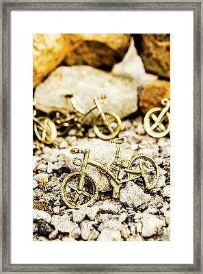 Off Road Bike Trinkets Framed Print