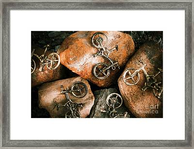 Off-road Cycling Framed Print by Jorgo Photography - Wall Art Gallery