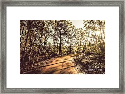 Off Road Trails Framed Print