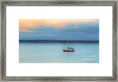 Framed Print featuring the photograph Off Sailing by Stephen Mitchell