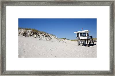 Off-season Beach Framed Print by Mary Haber