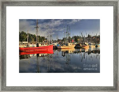 Off Season In Ucluelet Framed Print by Adam Jewell
