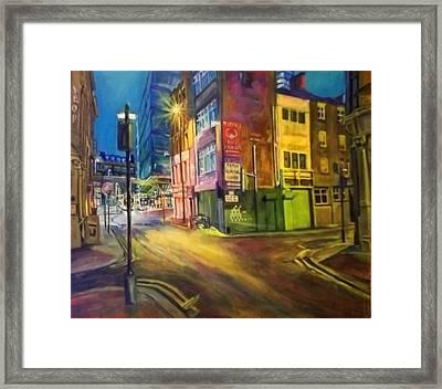 Off Shudehill Manchester Framed Print