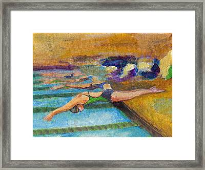 Off The Blocks Framed Print by Julie Opell