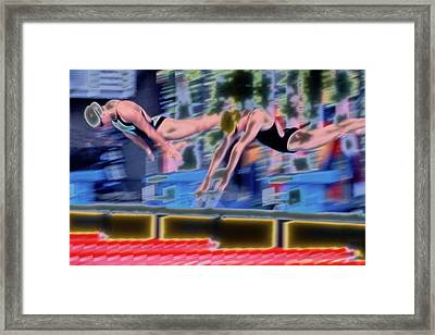 Off The Blocks Framed Print