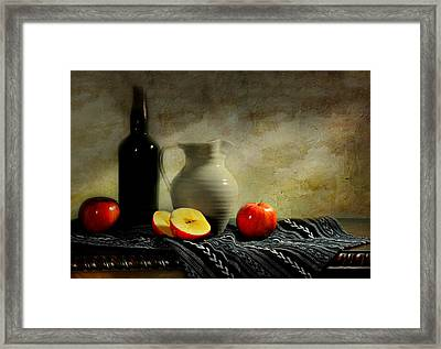 Off The Bottle Framed Print by Diana Angstadt
