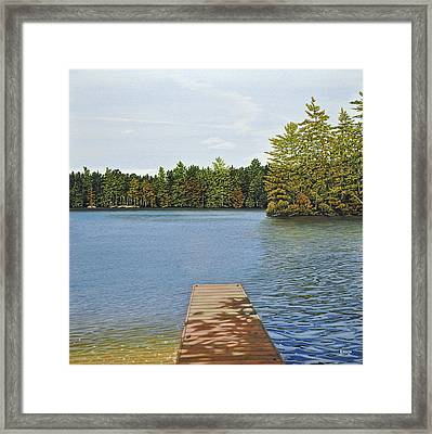 Off The Dock Framed Print