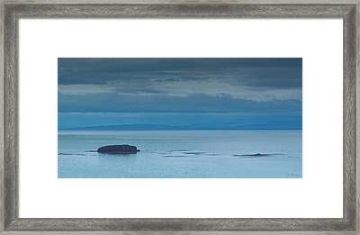 Framed Print featuring the photograph Off The Iceland Coast by Joe Bonita