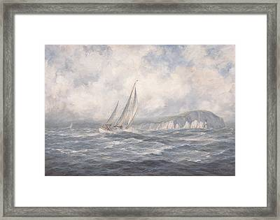 Off The Needles  Isle Of Wight Framed Print by Richard Willis