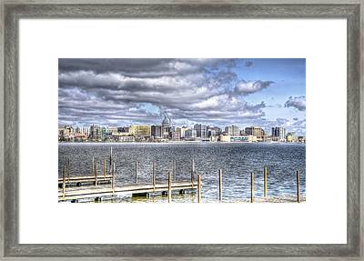 Off The Pier Framed Print