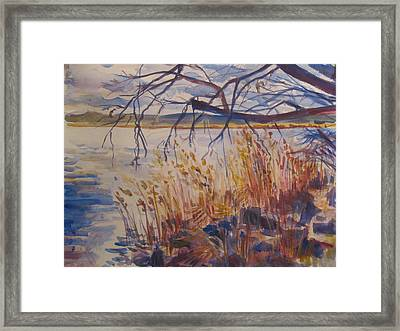 Off The Piermont Pier Framed Print by Joyce Kanyuk