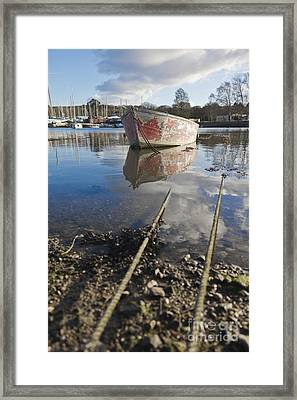 Off The Rails In Mylor Creek Framed Print by Terri Waters