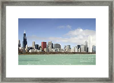 Off The Shore Of Chicago Framed Print