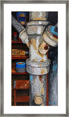 Off The Tour Framed Print by Rich Travis