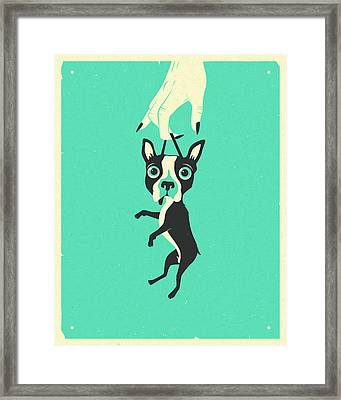 Off To Get Neutered Framed Print by Jazzberry Blue