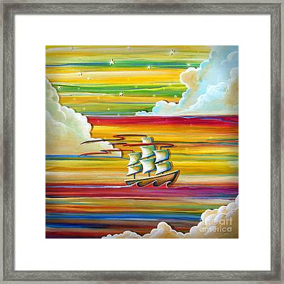 Off To Neverland Framed Print