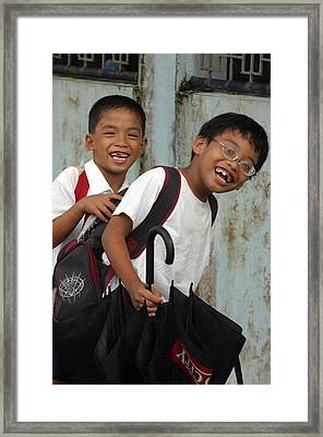 Off To School 2 Framed Print by Jez C Self