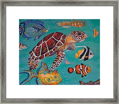 Off To School Framed Print by Emily Reynolds Thompson