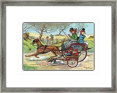 Off To The Hunt By Trap Framed Print
