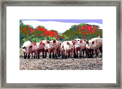 Off To The Market Framed Print