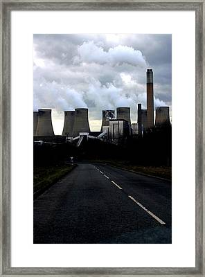 Framed Print featuring the photograph Off To Work by Jez C Self