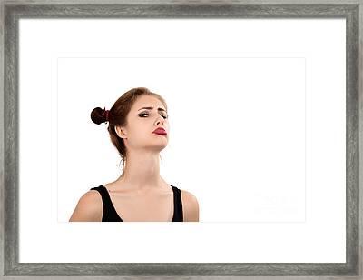 Offended Girl Framed Print by Aleksey Tugolukov