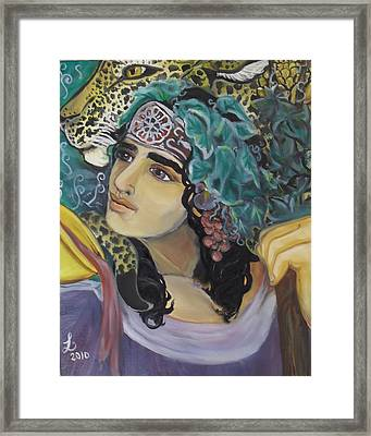 Offering Of Dionysos Framed Print by Samantha Sanders