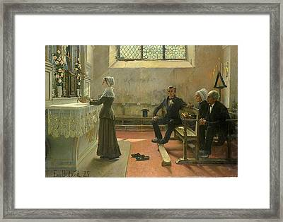 Offering To The Virgin The Day After The Wedding Framed Print