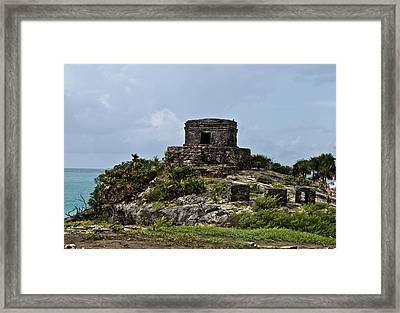 Offertories Telum Ruins Mexico Framed Print by Douglas Barnett