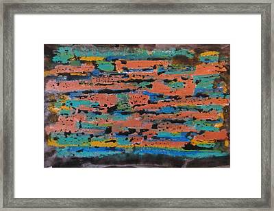 Office Abstraction Framed Print by John Malone