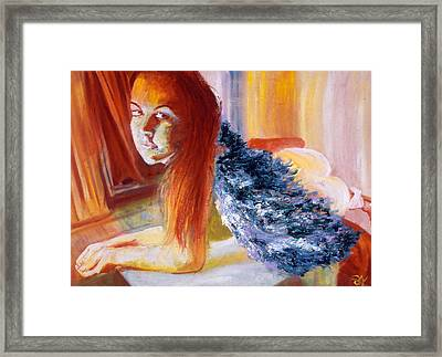 Office Angel II Framed Print by LB Zaftig