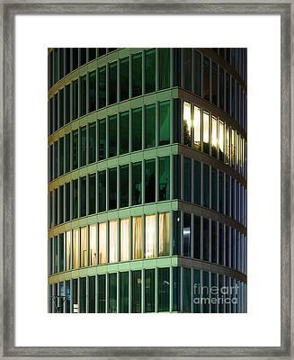 Office Building At Night Framed Print