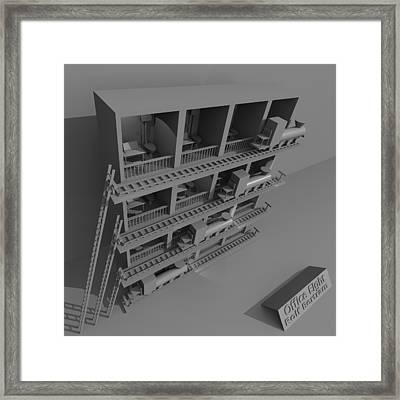 Office Eight Framed Print by Rolf Bertram
