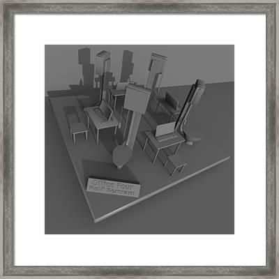 Office Four Framed Print by Rolf Bertram