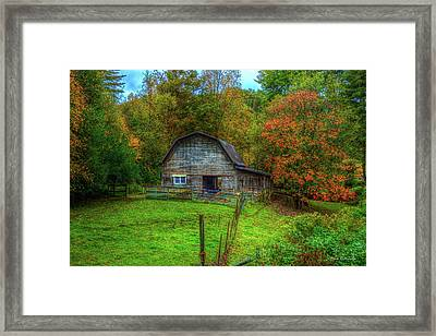 Office In The Barn Gambrel Barn Art Framed Print
