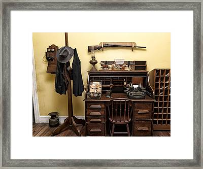 Office Of Jail Framed Print
