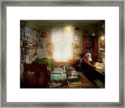 Office - Ole Tobias Olsen 1900 Framed Print by Mike Savad