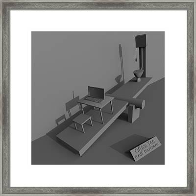 Office Ten Framed Print by Rolf Bertram