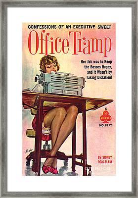 Office Tramp Framed Print