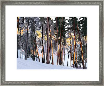 Office View Winter Alpenglow Framed Print