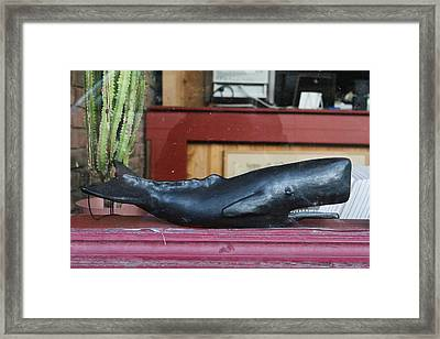 Office Whale Framed Print