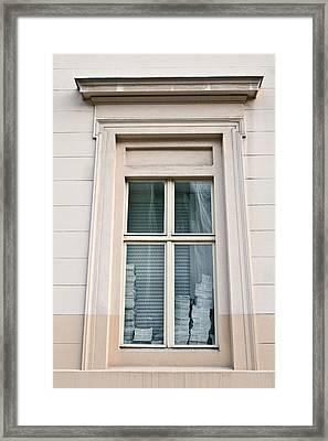 Office Window Framed Print by Tom Gowanlock