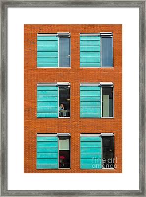 Office Windows Framed Print by Colin Rayner