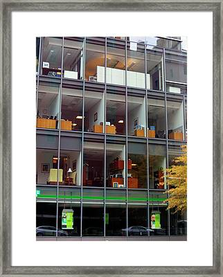 Office Windows Framed Print by Kevin Hill