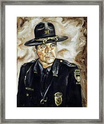 Officer Demaree Framed Print